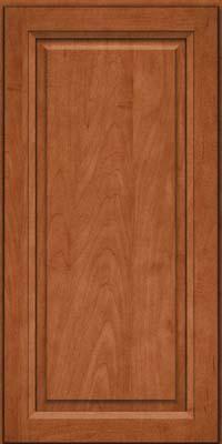 Square Raised Panel - Solid (PKM) Maple in Cinnamon - Wall
