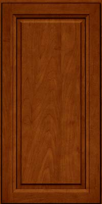 Square Raised Panel - Solid (PKM) Maple in Cinnamon w/Onyx Glaze - Wall