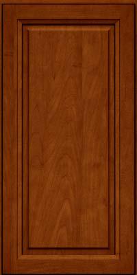 Square Raised Panel - Solid (PKM) Maple in Cinnamon w/Onyx Glaze - Wall