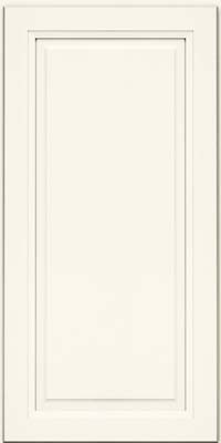 Square Raised Panel - Solid (PKM) Maple in Dove White - Wall