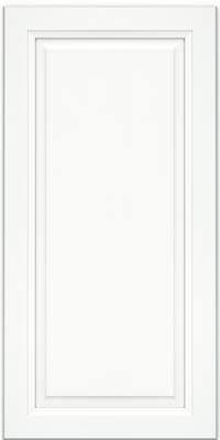 Square Raised Panel - Solid (PKM) Maple in Dove White w/ Cinder Glaze - Wall