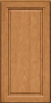 Square Raised Panel - Solid (PKM) Maple in Ginger w/Sable Glaze - Wall