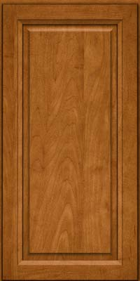 Square Raised Panel - Solid (PKM) Maple in Golden Lager - Wall