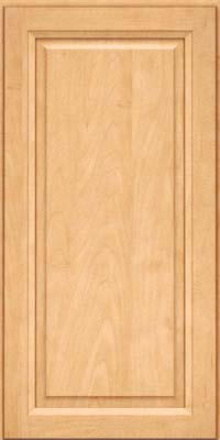 Square Raised Panel - Solid (PKM) Maple in Honey Spice - Wall