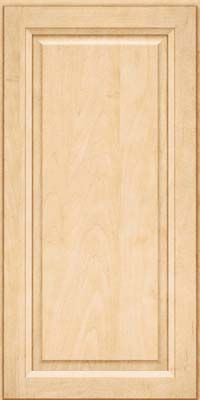 Square Raised Panel - Solid (PKM) Maple in Natural - Wall