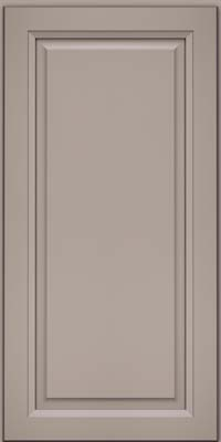 Square Raised Panel - Solid (PKM) Maple in Pebble Grey - Wall