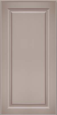 Square Raised Panel - Solid (PKM) Maple in Pebble Grey w/ Cocoa Glaze - Wall