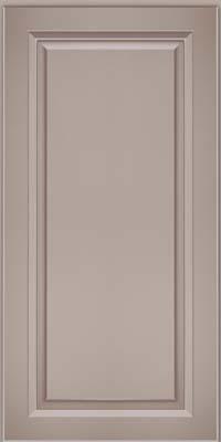 Square Raised Panel - Solid (PKM) Maple in Pebble Grey w/ Cocoa Glaze - Wall