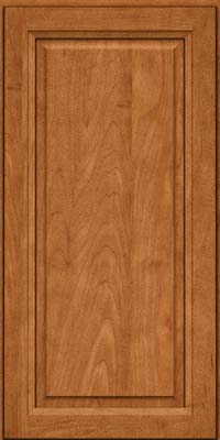 Square Raised Panel - Solid (PKM) Maple in Praline w/Mocha Highlight - Wall