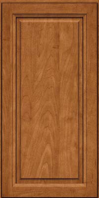 Square Raised Panel - Solid (PKM) Maple in Praline w/Onyx Glaze - Wall