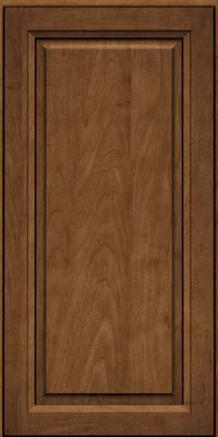 Square Raised Panel - Solid (PKM) Maple in Rye w/Onyx Glaze - Wall