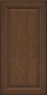 Square Raised Panel - Solid (PKM) Maple in Saddle Suede - Wall