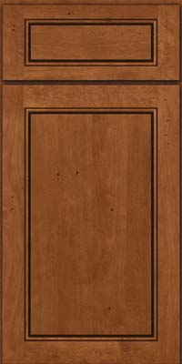 Square Raised Panel - Solid (PVB) Birch in Antique Chocolate w/Mocha Glaze - Base