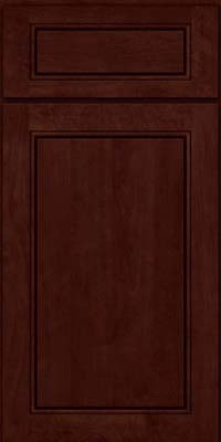 Square Raised Panel - Solid (PVB) Birch in Cabernet - Base