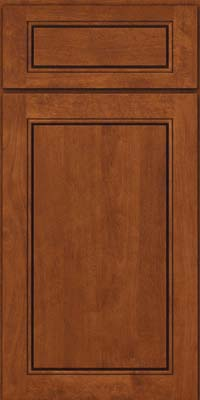 Square Raised Panel - Solid (PVB) Birch in Chestnut - Base
