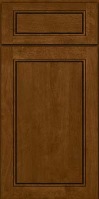 Square Raised Panel - Solid (PVB) Birch in Chocolate - Base