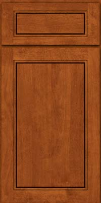 Square Raised Panel - Solid (PVB) Birch in Cinnamon - Base