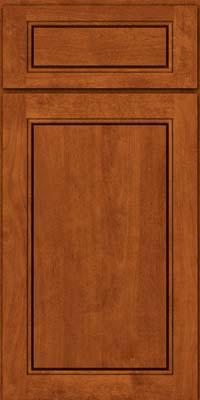 Square Raised Panel - Solid (PVB) Birch in Cinnamon - Base