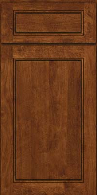 Square Raised Panel - Solid (PVB) Birch in Cognac - Base