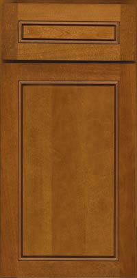 Square Raised Panel - Solid (PVB) Birch in Golden Lager - Base