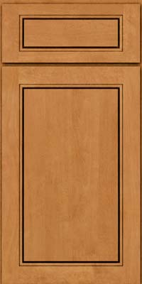 Square Raised Panel - Solid (PVB) Birch in Honey Spice - Base