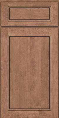 Square Raised Panel - Solid (PVB) Birch in Husk Suede - Base