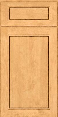 Square Raised Panel - Solid (PVB) Birch in Natural - Base