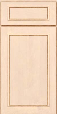 Square Raised Panel - Solid (PVB) Birch in Parchment - Base