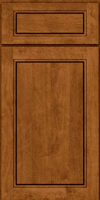 Square Raised Panel - Solid (PVB) Birch in Praline - Base