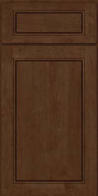 Square Raised Panel - Solid (PVB) Birch in Saddle Suede - Base