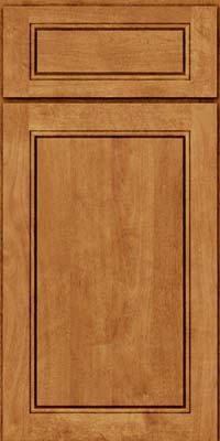 Square Raised Panel - Solid (PVB) Birch in Toffee - Base