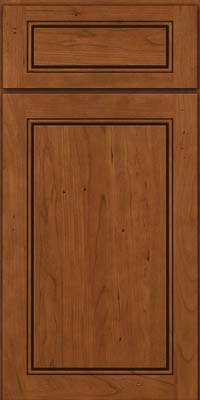 Square Raised Panel - Solid (PVC) Cherry in Antique Chocolate w/Mocha Glaze - Base