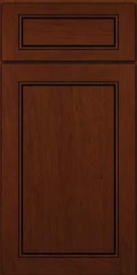 Square Raised Panel - Solid (PVC) Cherry in Autumn Blush w/Onyx Glaze - Base