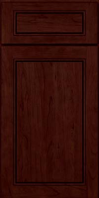 Square Raised Panel - Solid (PVC) Cherry in Cabernet - Base