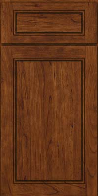 Square Raised Panel - Solid (PVC) Cherry in Cognac - Base