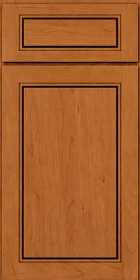 Square Raised Panel - Solid (PVC) Cherry in Honey Spice - Base