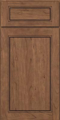 Square Raised Panel - Solid (PVC) Cherry in Husk - Base