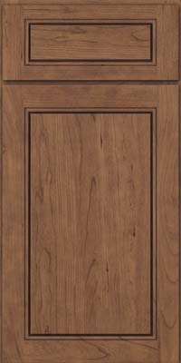Square Raised Panel - Solid (PVC) Cherry in Husk Suede - Base