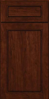 Square Raised Panel - Solid (PVC) Cherry in Kaffe - Base