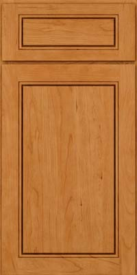Square Raised Panel - Solid (PVC) Cherry in Natural - Base