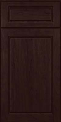 Square Raised Panel - Solid (PVC) Cherry in Peppercorn - Base
