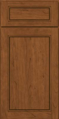 Square Raised Panel - Solid (PVC) Cherry in Rye - Base