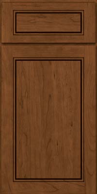 Square Raised Panel - Solid (PVC) Cherry in Rye w/Sable Glaze - Base
