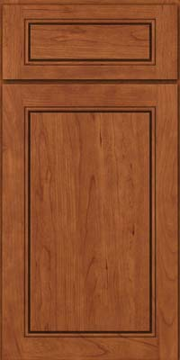 Square Raised Panel - Solid (PVC) Cherry in Sunset - Base