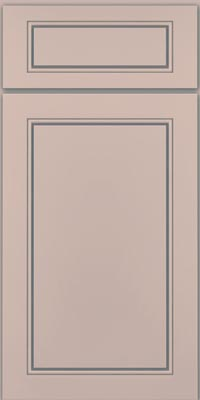 Square Raised Panel - Solid (PVM1) Maple in Chai w/Cinder Glaze - Base