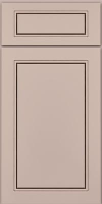 Square Raised Panel - Solid (PVM1) Maple in Chai w/Cocoa Glaze - Base