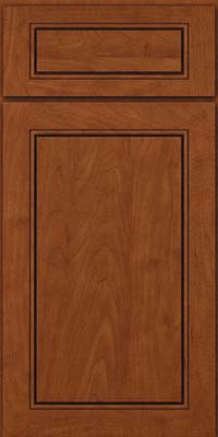 Square Raised Panel - Solid (PVM) Maple in Chestnut - Base