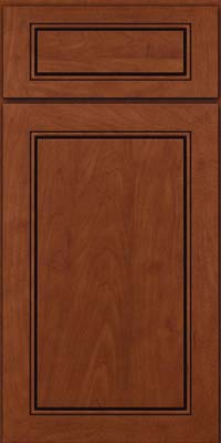 Square Raised Panel - Solid (PVM) Maple in Chestnut w/Onyx Glaze - Base