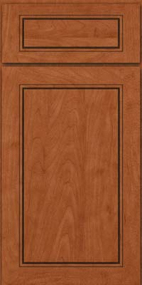 Square Raised Panel - Solid (PVM) Maple in Cinnamon - Base