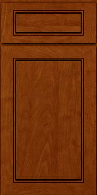 Square Raised Panel - Solid (PVM) Maple in Cinnamon w/Onyx Glaze - Base